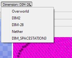 Dimensions menu